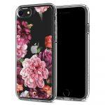 Spigen Ciel iPhone 7/8/SE (2020) rózsa 2 mintás hátlap, tok, átlátszó