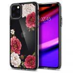 Spigen Ciel iPhone 11 Pro rózsa mintás hátlap, tok, átlátszó
