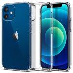 Spigen Liquid Crystal iPhone 12 Mini hátlap, tok, átlátszó