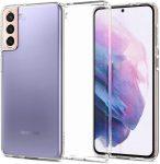 Spigen Liquid Crystal Samsung Galaxy S21 hátlap, tok, átlátszó