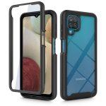 Tech-Protect Defense 360 Samsung Galaxy M12 ütésálló előlap+hátlap, tok, fekete