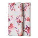 Tech-Protect Wallet Floral Samsung Galaxy A12 oldalra nyíló hátlap, tok, mintás, fehér