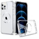 ESR HaloLock MagSafe iPhone 12/12 Pro hátlap, tok, átlátszó