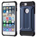 Hybrid Armor Tough Rugged iPhone 7 Plus/8 Plus ütésálló hátlap, tok, sötétkék
