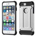 Hybrid Armor Tough Rugged iPhone 7 Plus/8 Plus ütésálló hátlap, tok, ezüst