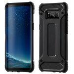Hybrid Armor Tough Rugged Samsung Galaxy S8 Plus ütésálló hátlap, tok, fekete