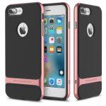 Rock iPhone 7 Royce Series hátlap, tok, rozé arany
