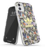 Adidas Original Clear Case Birds and Flowers iPhone 11 hátlap, tok, mintás, átlátszó-színes