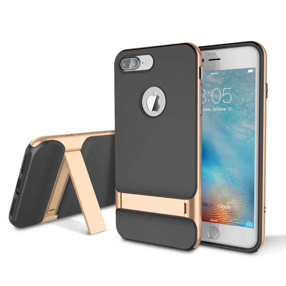 95a3df559e Rock iPhone 7 Plus Royce with kickstand series hátlap, tok, arany ...