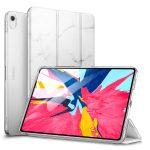 ESR iPad Pro 11 (2018) Marble oldalra nyíló okos tok, fehér