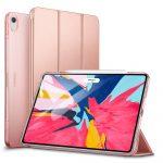 ESR Yippee Series iPad Pro 12.9 (2018) oldalra nyíló okos tok, rozé arany