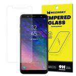 Wozinsky Samsung Galaxy A6 (2018) kijelzővédő edzett üvegfólia (tempered glass) 9H keménységű (nem teljes kijelzős 2D sík üvegfólia), átlátszó