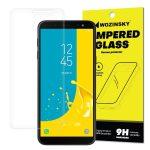 Wozinsky Samsung Galaxy J6 (2018) kijelzővédő edzett üvegfólia (tempered glass) 9H keménységű (nem teljes kijelzős 2D sík üvegfólia), átlátszó