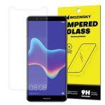 Wozinsky Huawei Y9 (2018) kijelzővédő edzett üvegfólia (tempered glass) 9H keménységű (nem teljes kijelzős 2D sík üvegfólia), átlátszó