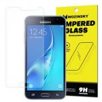 Wozinsky Samsung Galaxy J3 (2016) kijelzővédő edzett üvegfólia (tempered glass) 9H keménységű (nem teljes kijelzős 2D sík üvegfólia), átlátszó