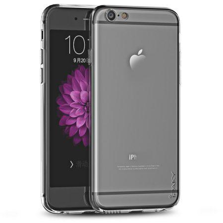 iPaky Effort iPhone 6 Plus/6s Plus szilikon hátlap és kijelzővédő edzett üvegfólia, átlátszó