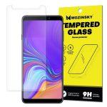 Wozinsky Samsung Galaxy A7 (2018) kijelzővédő edzett üvegfólia (tempered glass) 9H keménységű (nem teljes kijelzős 2D sík üvegfólia), átlátszó