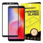 Wozinsky Xiaomi Redmi 6 Glass Screen 5D Full Glue teljes kijelzős edzett üvegfólia (tempered glass), 9H keménységű, tokbarát, fekete