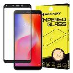 Wozinsky Xiaomi Redmi 6A 5D Full Glue teljes kijelzős edzett üvegfólia (tempered glass) 9H keménységű, tokbarát, fekete