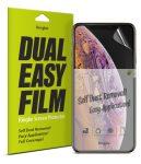 Ringke Dual Easy Film  iPhone 11 Pro/iPhone XS/X kijelzővédő fólia, szennyeződés eltávolító fóliával, átlátszó