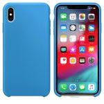 iPhone XS Max Silicone Case Soft Flexible Rubber hátlap, tok, kék