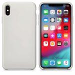 iPhone XS Max Silicone Case Soft Flexible Rubber hátlap, tok, szürke