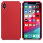 Silicone Flexible Rubber iPhone Xs Max szilikon hátlap, tok, piros