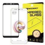 Wozinsky Xiaomi Redmi 5 Plus / Redmi Note 5 (egy-kamerás) 5D Full Glue teljes kijelzős edzett üvegfólia (tempered glass) 9H keménységű, tokbarát, fekete