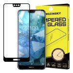 Wozinsky Nokia 7.1 5D Full Glue teljes kijelzős edzett üvegfólia (tempered glass) 9H keménységű, tokbarát, fekete