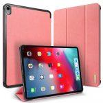 Dux Ducis Domo Series iPad Pro 11 (2018) oldalra nyíló smart tok, rózsaszín