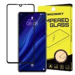Wozinsky Huawei P30 5D Full Glue teljes kijelzős edzett üvegfólia (tempered glass) 9H keménységű, tokbarát, fekete
