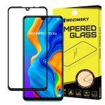 Wozinsky Huawei P30 Lite 5D Full Glue teljes kijelzős edzett üvegfólia (tempered glass) 9H keménységű, tokbarát, fekete