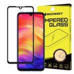 Wozinsky Xiaomi Redmi Note 7 5D Full Glue teljes kijelzős edzett üvegfólia (tempered glass) 9H keménységű, tokbarát, fekete