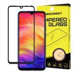 Wozinsky Xiaomi Redmi 7 5D Full Glue teljes kijelzős edzett üvegfólia (tempered glass) 9H keménységű, tokbarát, fekete