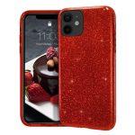 Wozinsky Glitter Case Shining Cover Huawei P Smart 2019 hátlap, tok, piros