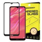 Wozinsky Huawei Y6 (2019)/Y6 Pro 2019 5D Full Glue teljes kijelzős edzett üvegfólia (tempered glass) 9H keménységű, tokbarát, fekete