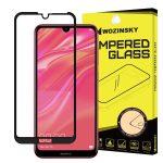Wozinsky Huawei Y7 (2019)/Y7 Pro 2019 5D Full Glue teljes kijelzős edzett üvegfólia (tempered glass) 9H keménységű, tokbarát, fekete