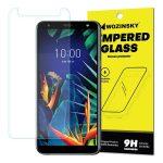 Wozinsky LG K40 kijelzővédő edzett üvegfólia (tempered glass) 9H keménységű (nem teljes kijelzős 2D sík üvegfólia), átlátszó
