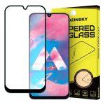 Wozinsky Glass Screen 5D Full Glue Samsung Galaxy M30 teljes kijelzős edzett üvegfólia, 9H keménységű, tokbarát, fekete