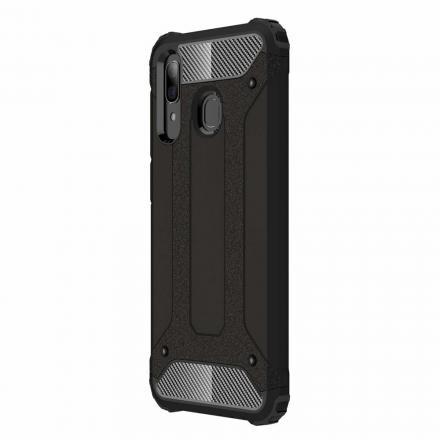 Hybrid Armor Tough Rugged Samsung Galaxy A30 ütésálló hátlap, tok, fekete