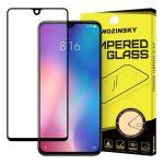 Wozinsky Xiaomi Mi 9 SE Glass Screen 5D Full Glue teljes kijelzős edzett üvegfólia (tempered glass), 9H keménységű, tokbarát, fekete