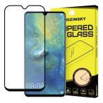 Wozinsky Huawei Mate 20 5D Full Glue teljes kijelzős edzett üvegfólia (tempered glass) 9H keménységű, tokbarát, fekete