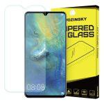 Wozinsky Huawei Mate 20 kijelzővédő edzett üvegfólia (tempered glass) 9H keménységű (nem teljes kijelzős 2D sík üvegfólia), átlátszó