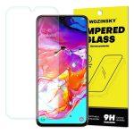 Wozinsky Samsung Galaxy A70 kijelzővédő edzett üvegfólia (tempered glass) 9H keménységű (nem teljes kijelzős 2D sík üvegfólia), átlátszó