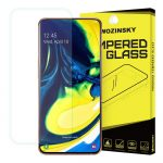 Wozinsky Samsung Galaxy A80 kijelzővédő edzett üvegfólia (tempered glass) 9H keménységű (nem teljes kijelzős 2D sík üvegfólia), átlátszó