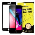iPhone 7/8 Wozinsky Glass Screen 5D Full Glue teljes kijelzős edzett üvegfólia (tempered glass), 9H keménységű, tokbarát, fekete