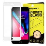 iPhone 7/8 Wozinsky Glass Screen 5D Full Glue teljes kijelzős edzett üvegfólia (tempered glass), 9H keménységű, tokbarát, fehér