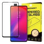 Wozinsky Xiaomi Mi 9T Pro/Mi 9T/Redmi K20 Glass Screen 5D Full Glue teljes kijelzős edzett üvegfólia (tempered glass), 9H keménységű, tokbarát, fekete