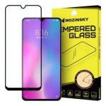 Wozinsky Xiaomi Mi 9 Lite/Mi CC9 Glass Screen 5D Full Glue teljes kijelzős edzett üvegfólia (tempered glass), 9H keménységű, tokbarát, fekete
