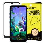 Wozinsky LG Q60/K50 5D Full Glue teljes kijelzős edzett üvegfólia (tempered glass) 9H keménységű, tokbarát, fekete